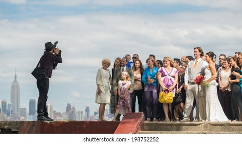 NEW JERSEY - JUNE 14: wedding in Riverview-Fisk Park on June 14, 2014 in NJ. Riverview-Fiske Park is a neighborhood on the east side of the Palisades with views of Hoboken and the NYC skyline.
