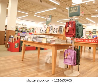 New Jersey, NJ, October 27 2018: Barnes and Noble store interior. Barnes & Noble Booksellers is the largest retail bookseller in the United States.