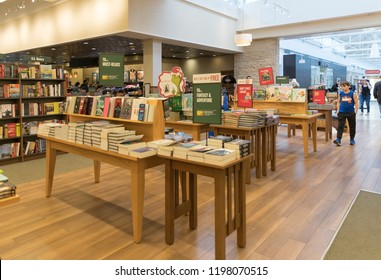 New Jersey, NJ, October 6 2018: Barnes and Noble store interior. Barnes & Noble Booksellers is the largest retail bookseller in the United States.