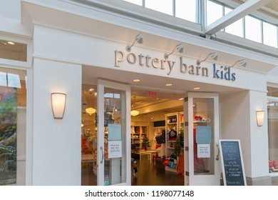 New Jersey, NJ, October 6 2018:Pottery Barn Kids retail store in New Jersey.