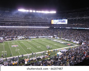 NEW JERSEY - NOVEMBER 25: An NFL game between the New York Jets and the Cincinnati Bengals at the new Meadowlands Stadium on November 25th, 2010 in New Jersey.