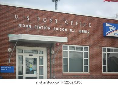 New Jersey, November 26, 2018:United States Post Office building, U.S. post office Nixon station Edison N.J.08817.