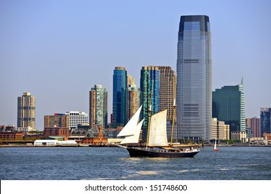New jersey skyline at Exchange Place.