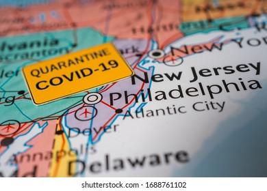 New Jersey state Coronavirus Covid-19 Quarantine