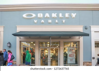 New Jersey, USA, January 1, 2019:Oakley Vault Store in New Jersey Outlet Location - Image