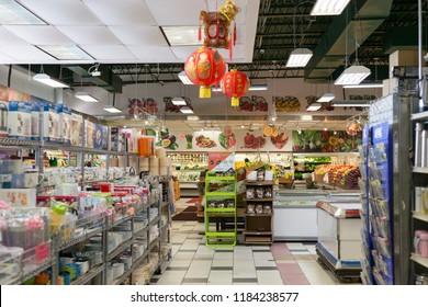 New Jersey, USA, September 19, 2018:Kam Man Food supermarket is a supermarket selling Chinese food.