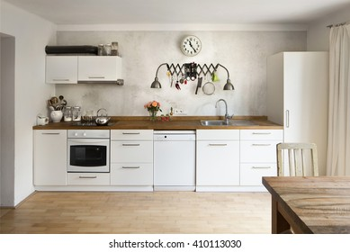 New kitchen in old school industrial style