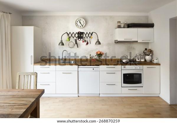 Incroyable Nouvelle cuisine dans un style industriel : photo de stock RR-08