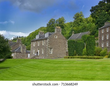 New Lanark is a village on the River Clyde, 25 miles (40 km) southeast of Glasgow. It was founded in 1786 by David Dale, who built cotton mills and housing for workers - UNESCO World Heritage Site