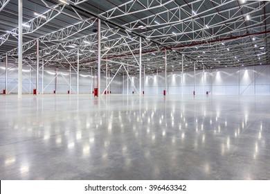 New Large modern empty warehouse