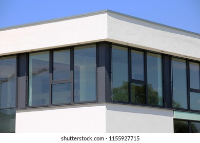 New large plastic window, exterior shot