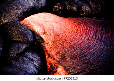 New lava flow at Hawaii Volcano National Park