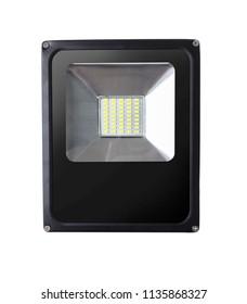 new led lamp on white isolated background