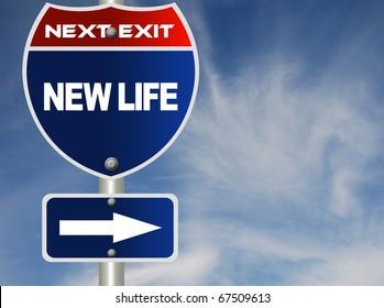 New life road sign