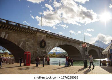 "The ""New"" London Bridge, Lake Havasu, Arizona.  The Bridge built in 1831 in the River Thames, London United Kingdom. Dismantled in 1967, purchased, sent to the US, and dedicated in Arizona 1971."