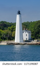 New London Harbor Light is a lighthouse in Connecticut on the west side of the New London harbor entrance. It is the nation's fifth oldest light station and the seventh oldest U.S. lighthouse.