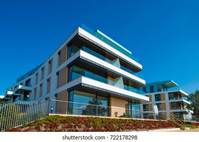 New luxury modern and stylish apartments building house by the sea