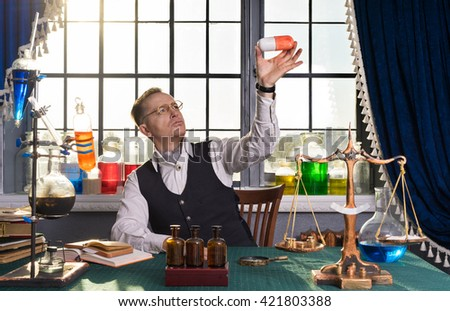New Medicine Invented By Scientists Pharmacists Stock Photo