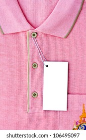 New men's Polo T-shirt and blank label