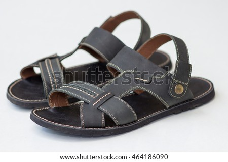 92dabab15e4b New Mens Sandals On White Background Stock Photo (Edit Now ...