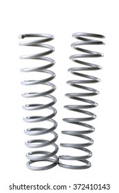 new metal springs isolated on white background