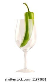 New Mexican Green Chile - In Wine Glass