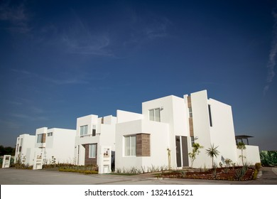 new mexican style houses, exterior view.