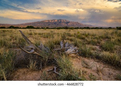 New Mexican sunset over Sandia Mountains