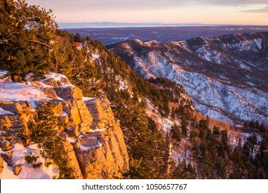 New Mexico, Albuquerque scenic mountain landscape shot at Sandia Peak National Park.
