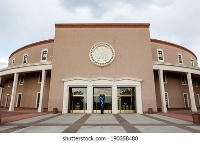 New Mexico State House and Capitol Building in Santa Fe