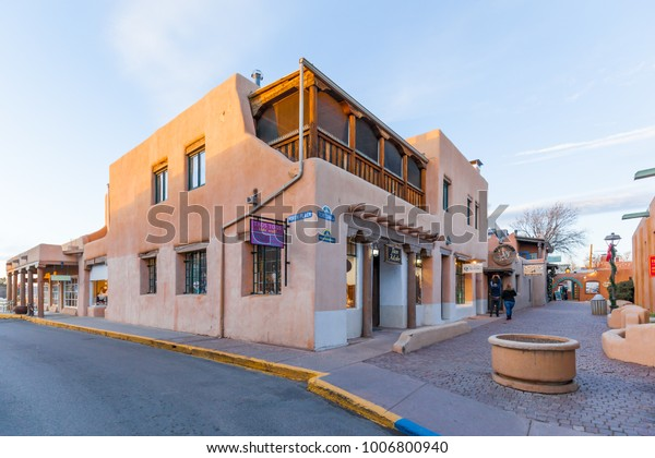 Old Town Santa Fe >> New Mexico Usa December 25 2017 Stock Photo Edit Now