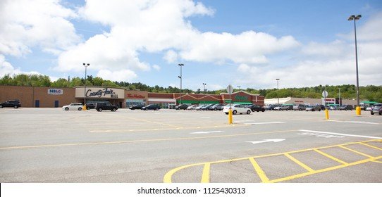 New Minas, Nova Scotia- June 3, 2018: The County Fair Mall Shopping Centre in New Minas, considered the shopping capital of the Annapolis Valley.