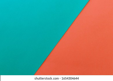 New Minimal Flat design. Colorful new Paper modern background. Bright colors for fresh and modern graphics. Abstract background with linear geometric composition for social network banner. Two colors