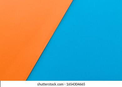 Neues Minimal Flat Design. Farbenfrohe neue Papier, moderner Hintergrund. Helle Farben für frische und moderne Grafiken. Abstrakter Hintergrund mit linearer geometrischer Zusammensetzung für Social-Network-Banner. Zwei Farben