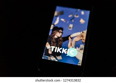 new Mobile app 'Tikkie'. Tikkie is a populair Dutch app with which you can reclaim money if you have advanced. Zeewolde - Netherlands - 4 jan 2019