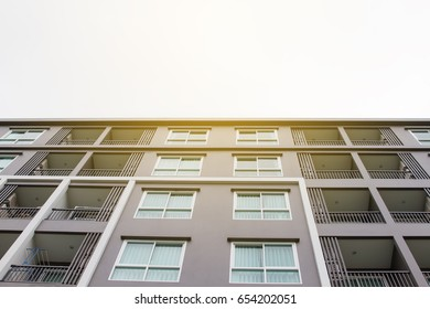 New modern apartment building