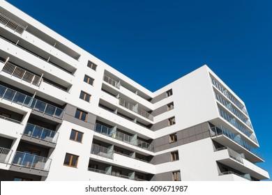 New modern apartment flats building
