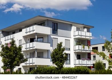 New modern apartment house