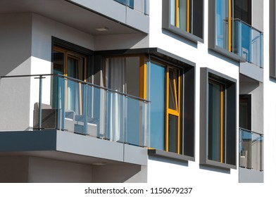 New modern architectural building house