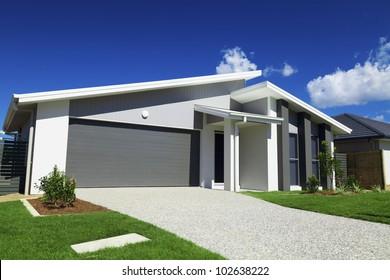 New modern Australian house.