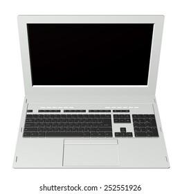 New modern computer.Laptop.3D model