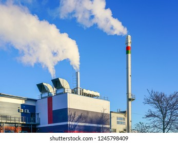 a new modern gas cogeneration heating plant with high thermal energy efficiency