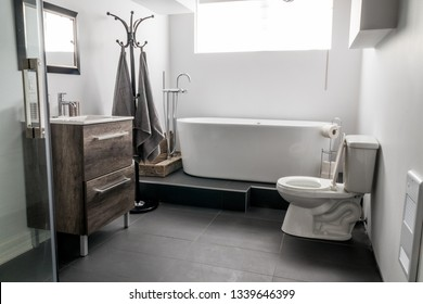 new modern house bathroom