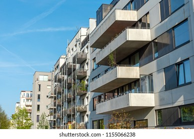 New modern housing construction seen in Berlin, Germany