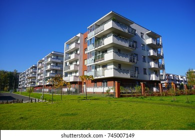 New modern housing estate in Lodz - Typical housing