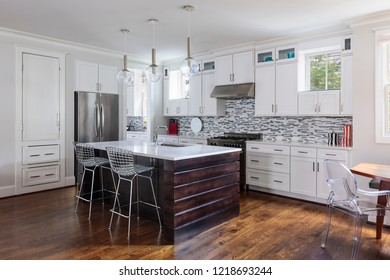 New modern kitchen with high end fixtures