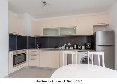 New modern kitchen. New home. Interior photography.