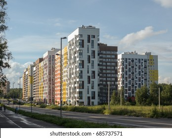 New modern low rise apartment complex. Moscow, Russia