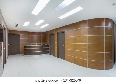 New modern reception in an office space. Business center