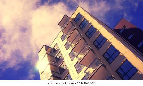 New modern residential buildings